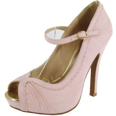 Precious-33 Scalloped Mary Jane Pump - Peazz.com