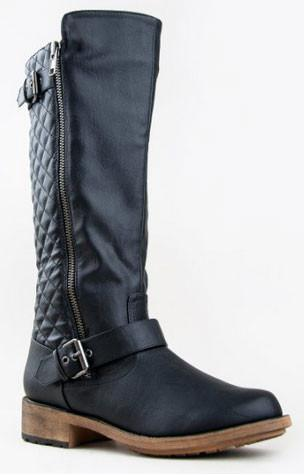 Relax-114X Quilted Basic Knee High Riding Boot - Peazz.com