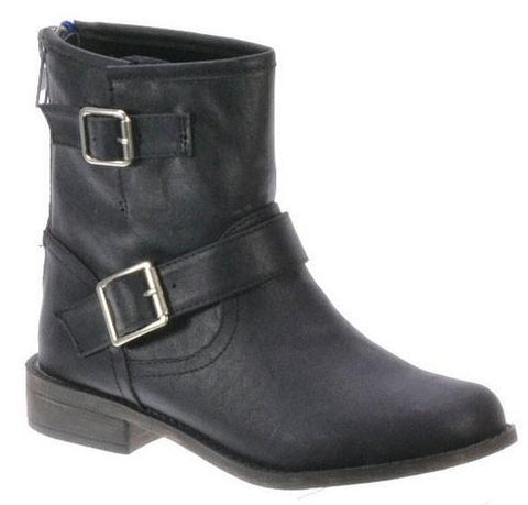 Fresno-11 Buckle Riding/Combat Ankle Boot - WarehouseSpot