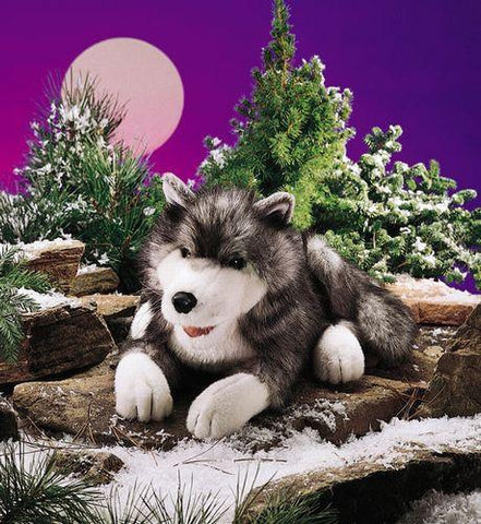 Folkmanis Wolf, Timber Hand Puppet - 2171 - Peazz.com