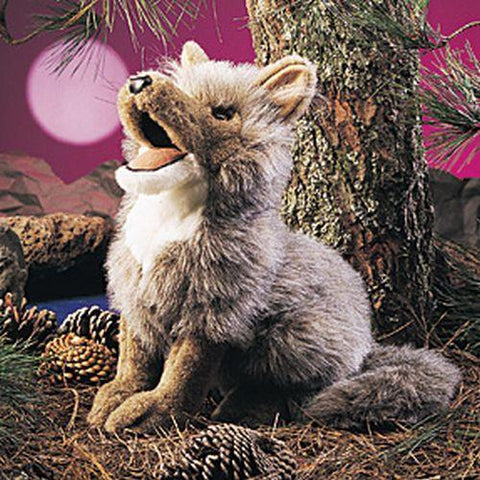 Folkmanis Coyote Hand Puppet - 2226 - Peazz.com