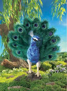 Folkmanis Peacock Hand Puppet - 2539 - Peazz.com