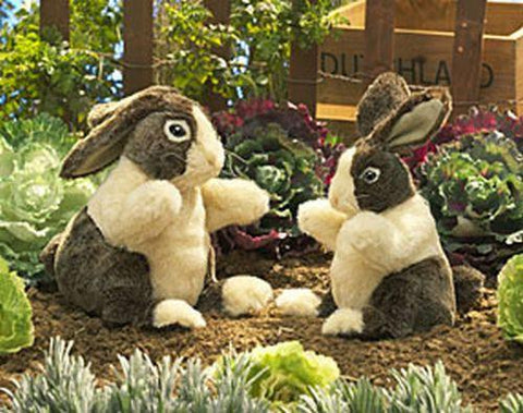Folkmanis Rabbit, Dutch Hand Puppet - 2568 - Peazz.com