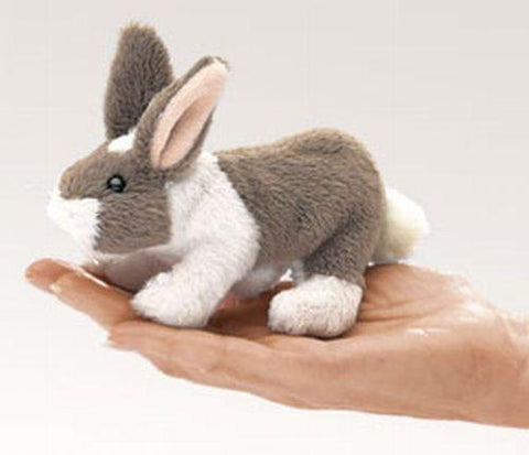 Folkmanis Mini Bunny Rabbit Finger Puppet - 2727 - Peazz.com