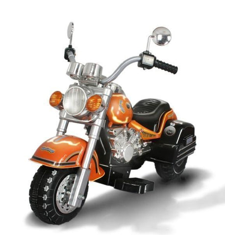 Harley Style Kid's Chopper Style Motorcycle - Orange - Peazz.com