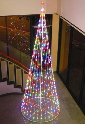 HomeBrite 12 ft. Multi-Color Light Strand Christmas Tree - Peazz.com