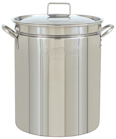 Bayou Classic 24 Quart Stainless Steel Stockpot - WarehouseSpot