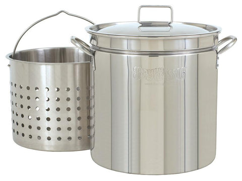 Bayou Classic 36 Quart Stainless Steel Stockpot And Basket Set - WarehouseSpot