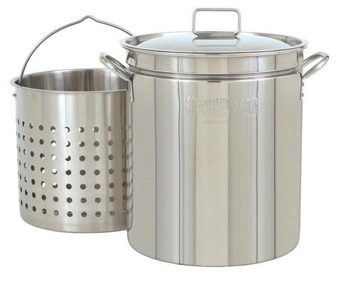Bayou Classic 62 Quart Stainless Steel Stockpot (Basket Sold Separately) - WarehouseSpot