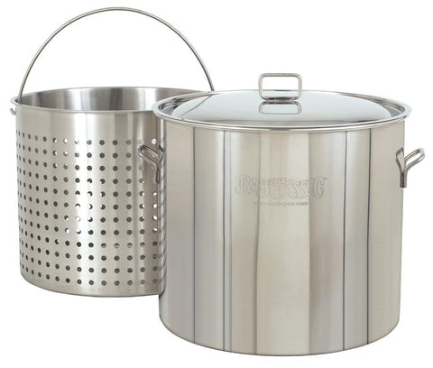 Bayou Classic 82 Quart Stainless Steel Stockpot And Basket Set - WarehouseSpot