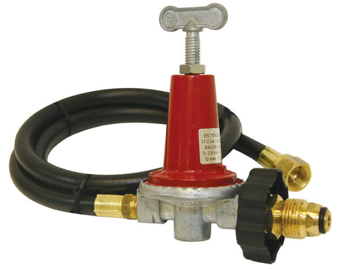 Bayou Classic 40 PSI Adjustable Regulator With 48 Inch Propane Hose - WarehouseSpot