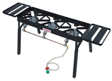 Bayou Classic Tb650 Triple Burner Patio Stove With Extension Legs - WarehouseSpot