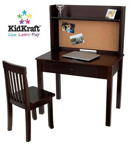 KidKraft Pinboard Desk with Hutch & Chair 27150 - Peazz.com