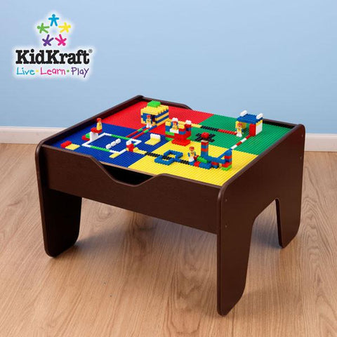 KidKraft 2 in 1 Activity Table with Board Espresso 17577 - Peazz.com