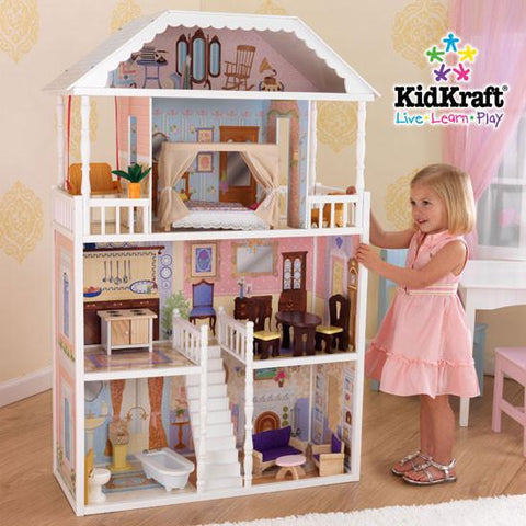 KidKraft 65023 - 32.5 in. Savannah Dollhouse - Peazz.com