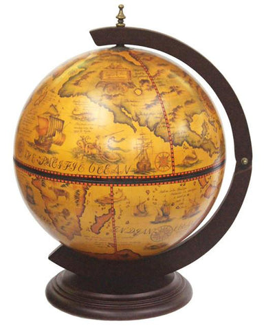 "Turin 13"" Diameter Italian Replica Tabletop Globe Bar - WarehouseSpot"