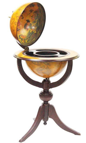 "Venezia 26"" Diameter Italian Replica Floor Globe Bar - Peazz.com"