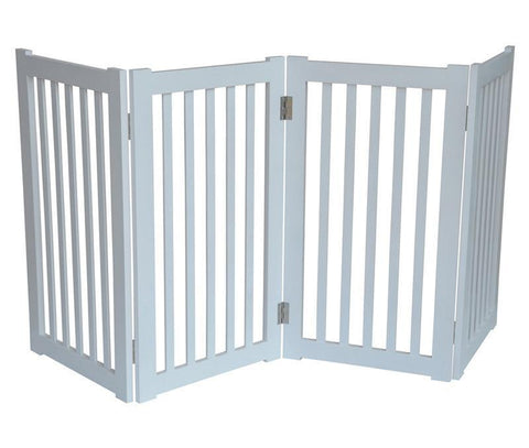 "MDOG2 MK806-720WH 4-Panel Free Standing Pet Gate 72""W x 32""H - White - Peazz.com"