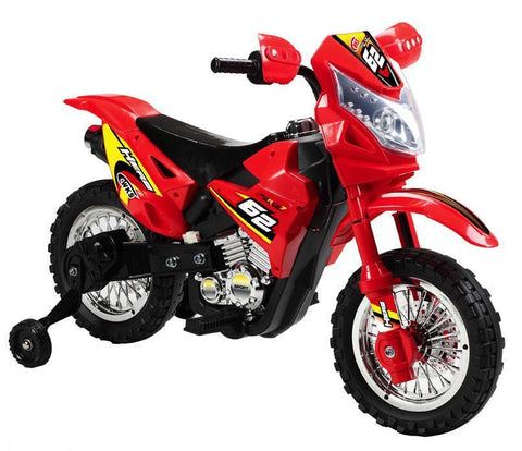 Vroom Rider VR093 Battery Operated 6V Kids Dirt Bike (Red) - Peazz.com