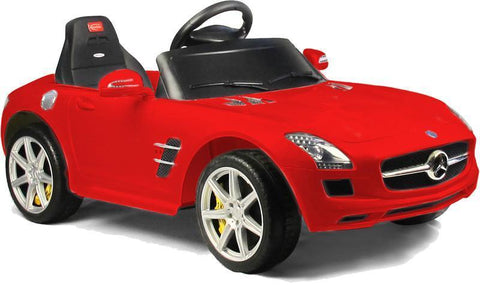 Vroom Rider VR81600-RED Mercedes-Benz SLS AMG Rastar 6V - Battery Operated/Remote Controlled (Red) - Peazz.com