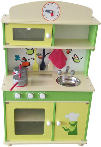 Berry Toys W10C034 My Cute Green Wooden Play Kitchen - WarehouseSpot