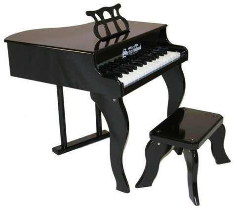 Schoenhut 30 Key Fancy Baby Grand Piano - Black 3005B - Peazz.com
