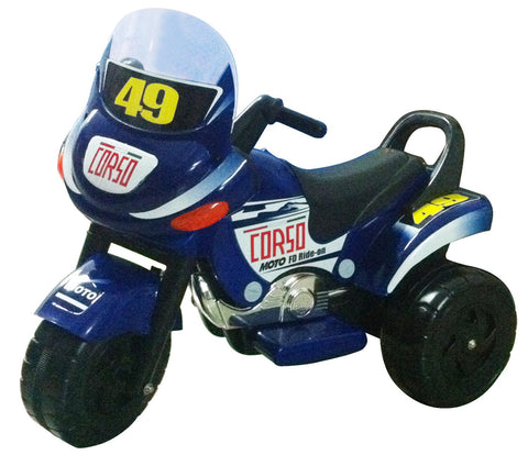 Mini Racer Battery Operated Kids Motorcycle (Blue) - Peazz.com
