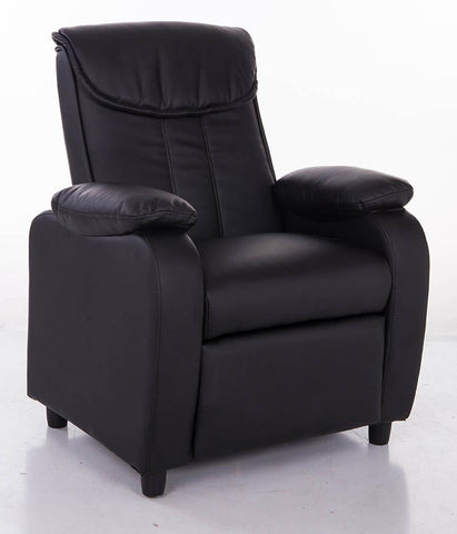 Mochi Furniture KR2002BK Comfortable KR2002BK Black PU Leather Kids Recliner - Peazz.com
