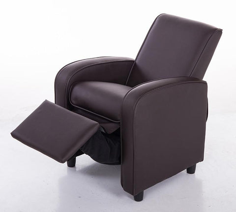 Mochi Furniture KR2021BRN Comfortable KR2021BRN Brown PU Leather Kids Recliner - Peazz.com