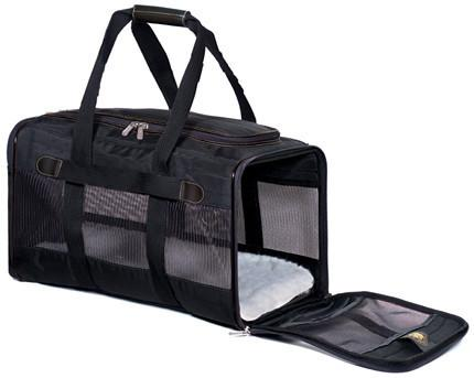 Sherpa 55531 Original Deluxe Pet Carrier Black (Small) - WarehouseSpot