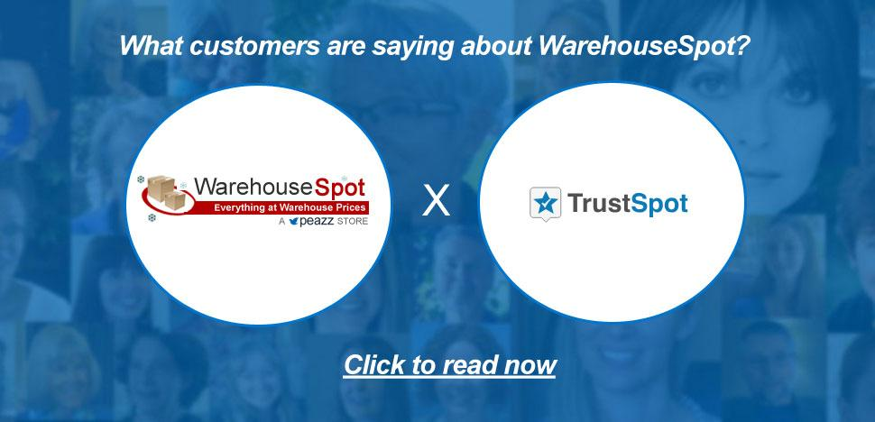 WarehouseSpot Customer Testimonials via TrustSpot