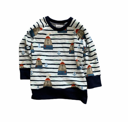 Chelsey Crewneck in Nautical Walruses