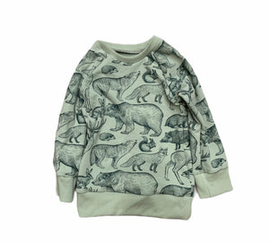 Chelsey Crewneck in Forest Animals