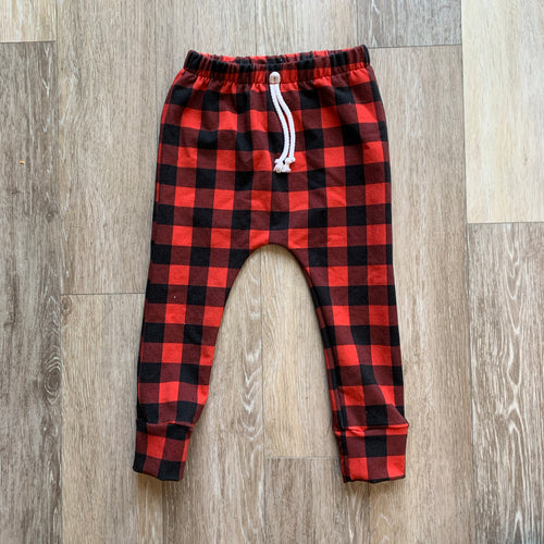 Hunter Harems in Red Buffalo Plaid