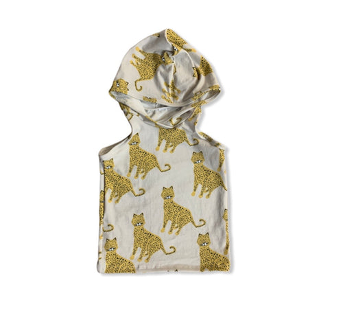 Hooded Tank Top in Cheetahs