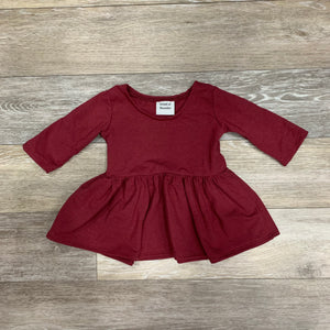 Penney Peplum in Burgundy