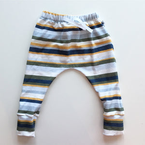 Hunter Harem Pants in Olive stripe