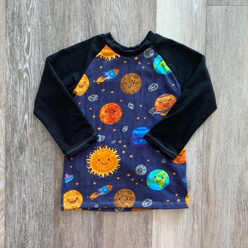 Abbie Baseball Tee in Planets