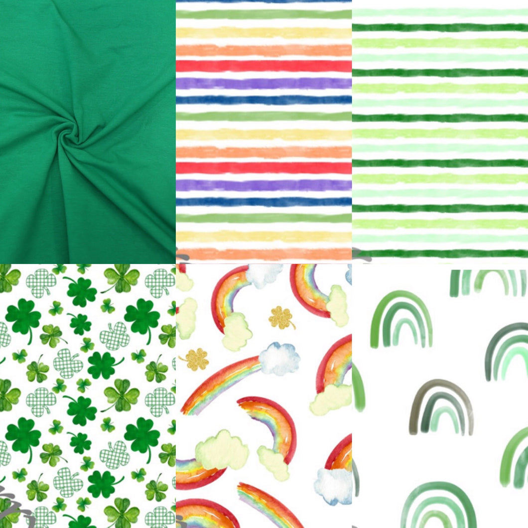 Hunter Harems in St. Patrick's Day Fabrics