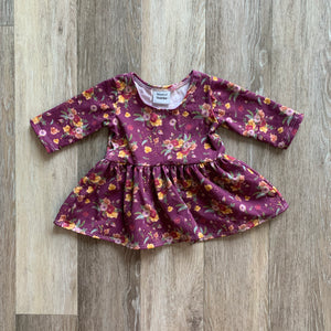 Penney Peplum in Purple Floral