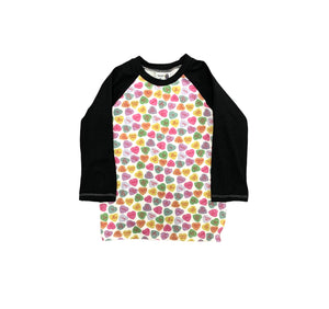 Abbie Baseball Tee in Conversation Hearts
