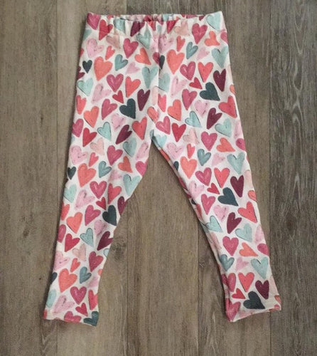 Leggings in Pink Heart