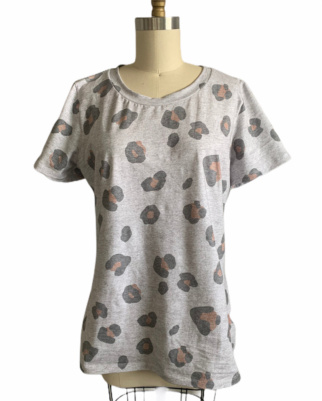 MAMA Basic Tee in Leopard