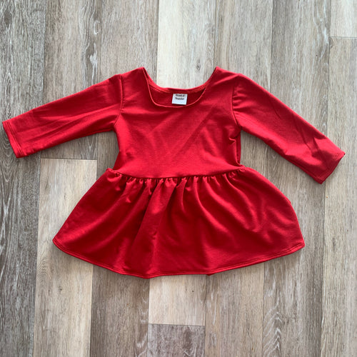 Penney Peplum in Red