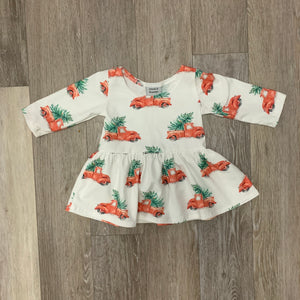 Penney Peplum in Vintage Christmas Truck