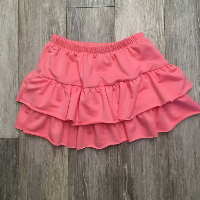 Sarah Ruffle Skirt in Pink Melon