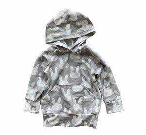Wyatt Cash Hoodie in Grey Bunnies