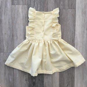 Sophie Dress in Yellow Seersucker