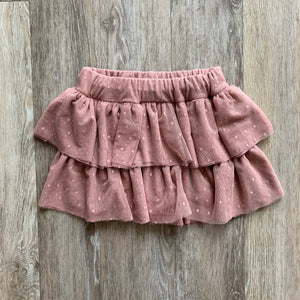 Ruffle Skirt in Dusty Pink