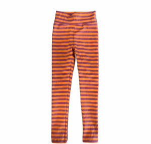 Jena Legging in Orange and Purple Stripe
